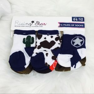 🆕 Cactus Cowboy Western Baby Socks! 🆕
